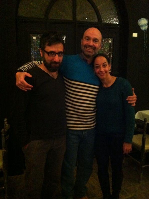 With David Montero y Belen Maya